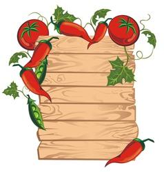 Tomato menu board vector