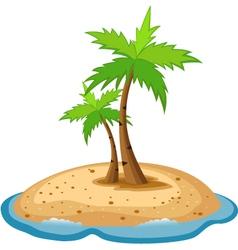 Topical island vector