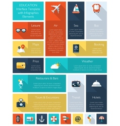 Travel flat travel interface vector