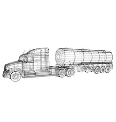 Truck cistern tracing vector