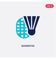 Two color badminton icon from free time concept vector