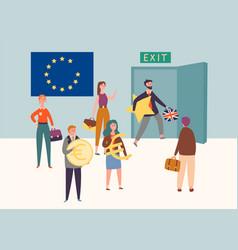 Uk exit european union brexit symbol concept vector