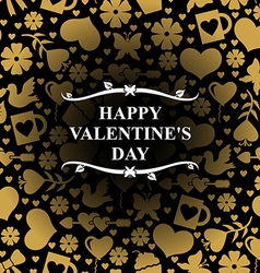 Valentine day gold vector