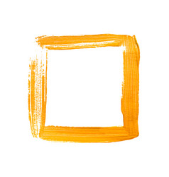Yellow painted square frame vector
