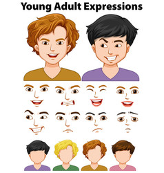 young people expressions with different faces vector image vector image