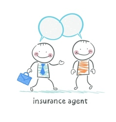 insurance agent insurance agent tells about vector image