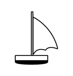 sailboat recreation travel line vector image