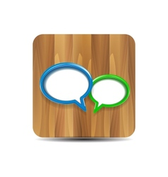 speech bubbles on wood vector image vector image