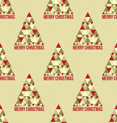 Christmas seamless vintage pattern vector image