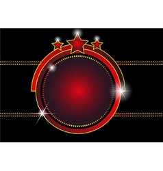 Entertainment frame background vector image vector image