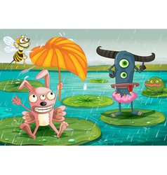 monsters and water vector image vector image