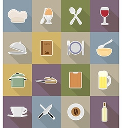 objects for food flat icons 18 vector image vector image