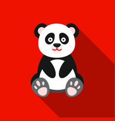 panda icon flat singe animal icon from the big vector image vector image