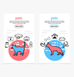 pets care vertical banners vector image