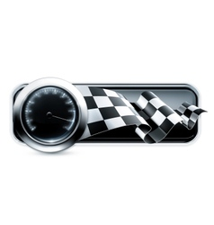 Racing banner vector image vector image