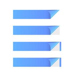 sticker banner blue vector image vector image