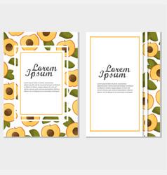 vintage frame - peach or apricot for menu design vector image
