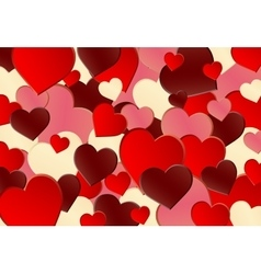 Different Red Heart Shape Background vector image