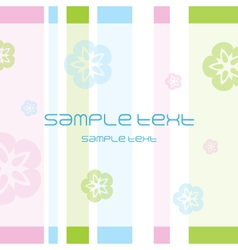 flower pattern Greeting card vector image vector image