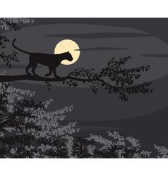 Leopard moon vector image