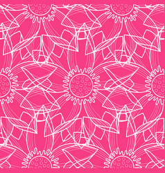 Lotus abstract pink seamless pattern vector