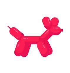 ballon dog flat cartoon character vector image