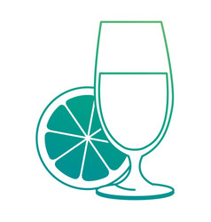 cup with orange juice vector image vector image