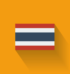 Flat flag of Thailand vector image