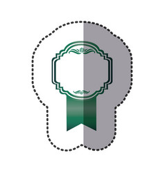 green emblem with symbols inside icon vector image