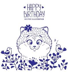 kitten birthday vector image