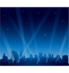 Party city at night vector image