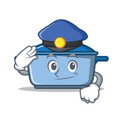 Police kitchen character cartoon style vector