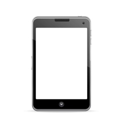 Realistic mobile phone with blank screen vector image vector image