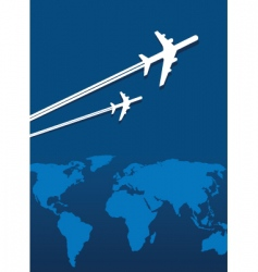 world flight vector image vector image