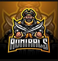 admirals esport mascot logo design vector image
