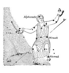 Andromeda vintage vector