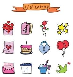 Art valentine set element vector