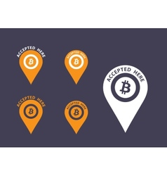 Bitcoin icons vector