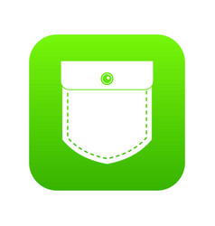 black jeans pocket icon digital green vector image