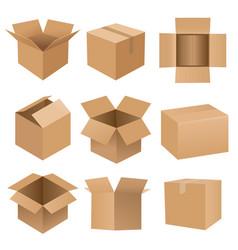 cartoon recycle box big set vector image