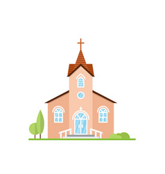 catholic church landscape vector image