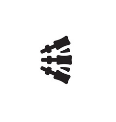 Chiropractic black concept icon vector