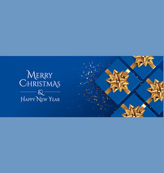 christmas background classic blue vector image