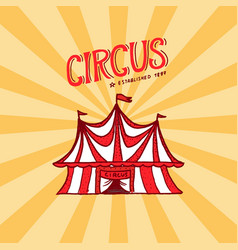 circus tent badge template arena for performances vector image