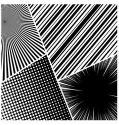 comic book monochrome composition vector image