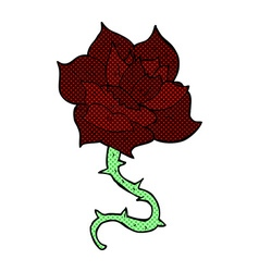 comic cartoon rose vector image