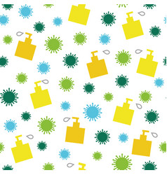 Corona virus and soap or desinfectant pattern vector