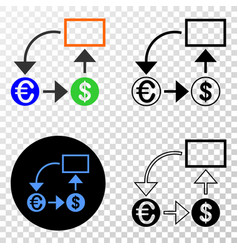 currency conversion scheme eps icon with vector image