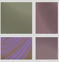 Curved stripe design page background set vector image