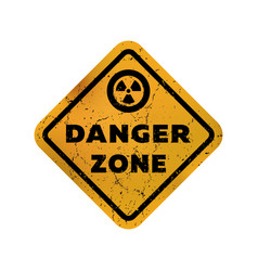 Danger zone grungy emblem sign vector